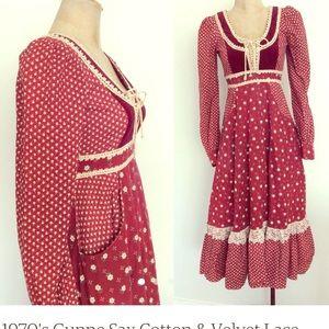 Dresses & Skirts - Gunne Sax Prairie dress, xxs red